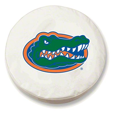 University of Florida Spare Tire Cover - White (87-18 Jeep Wrangler YJ, TJ, JK & JL)