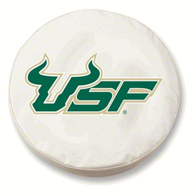 University of South Florida Spare Tire Cover - White (87-18 Jeep Wrangler YJ, TJ, JK & JL)