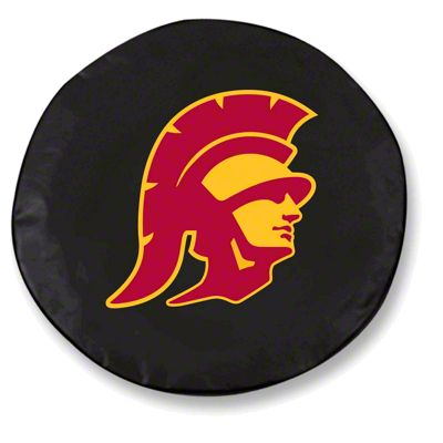 University of Southern California Spare Tire Cover - Black (87-18 Jeep Wrangler YJ, TJ, JK & JL)