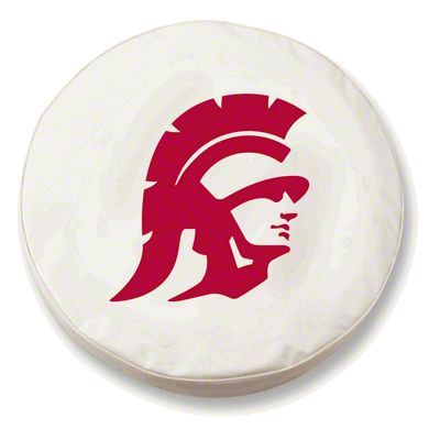 University of Southern California Spare Tire Cover - White (87-18 Jeep Wrangler YJ, TJ, JK & JL)