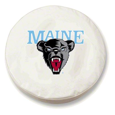 University of Maine Spare Tire Cover - White (87-18 Jeep Wrangler YJ, TJ, JK & JL)