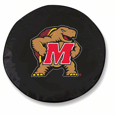 University of Maryland Spare Tire Cover - Black (87-18 Jeep Wrangler YJ, TJ, JK & JL)