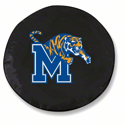 University of Memphis Spare Tire Cover - Black (87-18 Jeep Wrangler YJ, TJ, JK & JL)