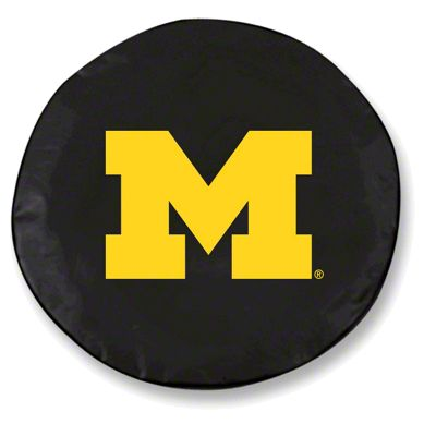 University of Michigan Spare Tire Cover - Black (87-18 Jeep Wrangler YJ, TJ, JK & JL)