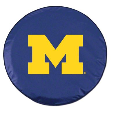 University of Michigan Spare Tire Cover - Navy (87-18 Jeep Wrangler YJ, TJ, JK & JL)