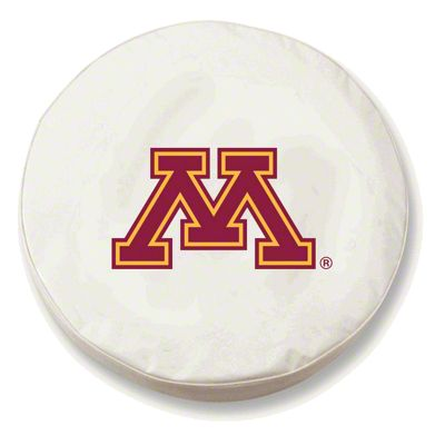 University of Minnesota Spare Tire Cover - White (87-18 Jeep Wrangler YJ, TJ, JK & JL)