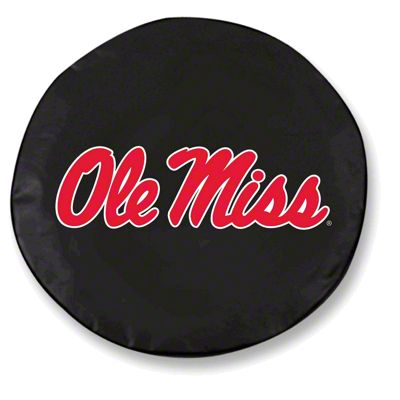 University of Mississippi Spare Tire Cover - Black (87-18 Jeep Wrangler YJ, TJ, JK & JL)