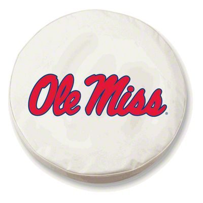 University of Mississippi Spare Tire Cover - White (87-18 Jeep Wrangler YJ, TJ, JK & JL)