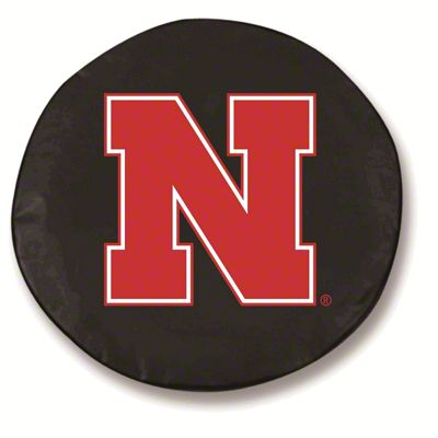University of Nebraska Spare Tire Cover - Black (87-18 Jeep Wrangler YJ, TJ, JK & JL)