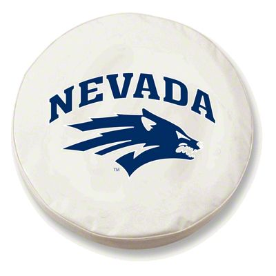 University of Nevada Spare Tire Cover - White (87-18 Jeep Wrangler YJ, TJ, JK & JL)
