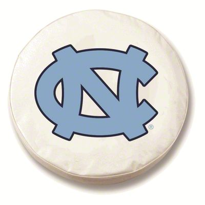 University of North Carolina Spare Tire Cover - White (87-18 Jeep Wrangler YJ, TJ, JK & JL)
