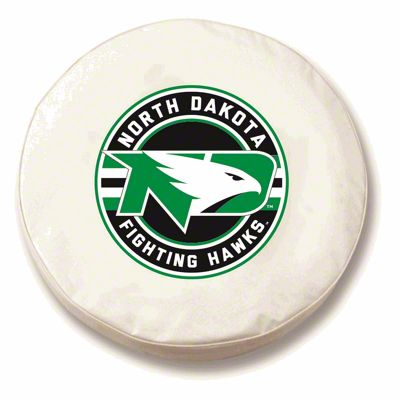 University of North Dakota Spare Tire Cover - White (87-18 Jeep Wrangler YJ, TJ, JK & JL)
