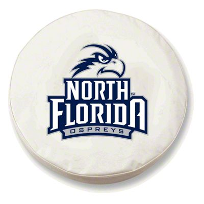 University of North Florida Spare Tire Cover - White (87-18 Jeep Wrangler YJ, TJ, JK & JL)