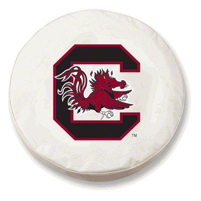 University of South Carolina Spare Tire Cover - White (87-18 Jeep Wrangler YJ, TJ, JK & JL)