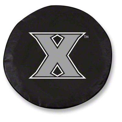 Xavier University Spare Tire Cover - Black (87-18 Jeep Wrangler YJ, TJ, JK & JL)