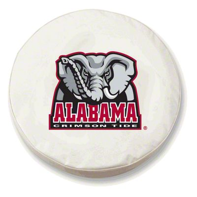University of Alabama Elephant Spare Tire Cover - White (87-18 Jeep Wrangler YJ, TJ, JK & JL)