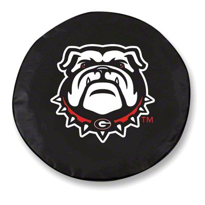 University of Georgia Bull Dog Spare Tire Cover - Black (87-18 Jeep Wrangler YJ, TJ, JK & JL)