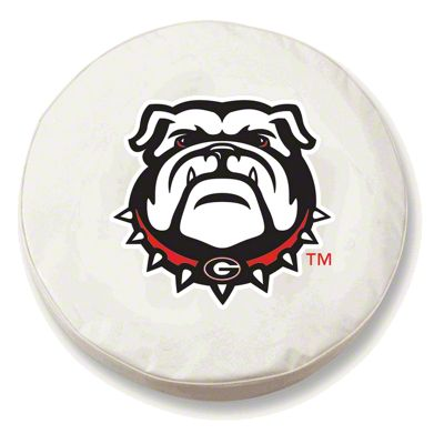 University of Georgia Bull Dog Spare Tire Cover - White (87-18 Jeep Wrangler YJ, TJ, JK & JL)