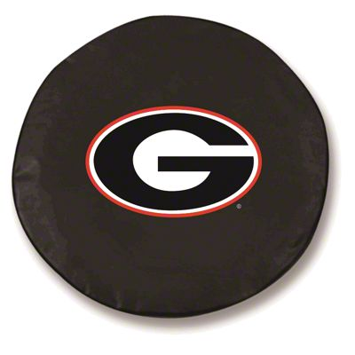 University of Georgia G Spare Tire Cover - Black (87-18 Jeep Wrangler YJ, TJ, JK & JL)