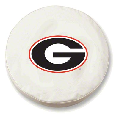 University of Georgia G Spare Tire Cover - White (87-18 Jeep Wrangler YJ, TJ, JK & JL)