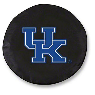 University of Kentucky UK Spare Tire Cover - Black (87-18 Jeep Wrangler YJ, TJ, JK & JL)