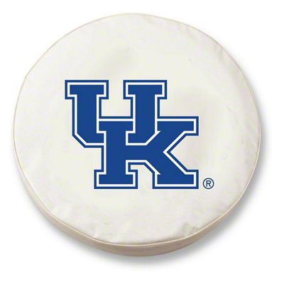 University of Kentucky UK Spare Tire Cover - White (87-18 Jeep Wrangler YJ, TJ, JK & JL)