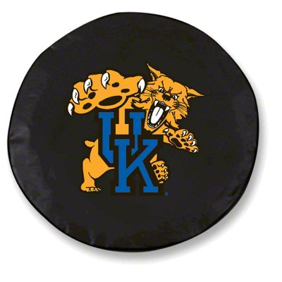 University of Kentucky Cat Spare Tire Cover - Black (87-18 Jeep Wrangler YJ, TJ, JK & JL)