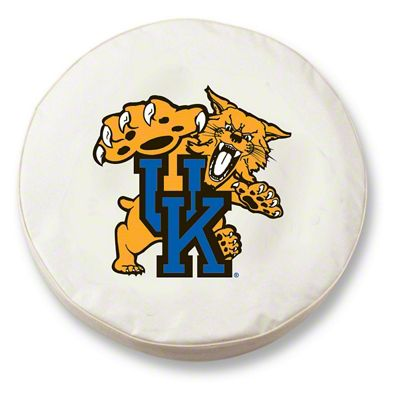 University of Kentucky Cat Spare Tire Cover - White (87-18 Jeep Wrangler YJ, TJ, JK & JL)