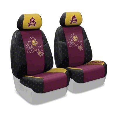 Coverking Arizona State University Front Seat Covers (07-18 Jeep Wrangler JK)