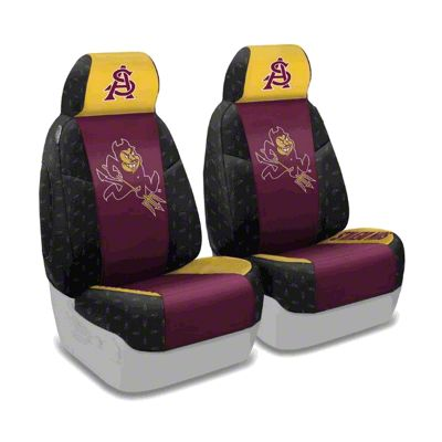 Coverking Arizona State University Front Seat Covers (87-95 Jeep Wrangler YJ)
