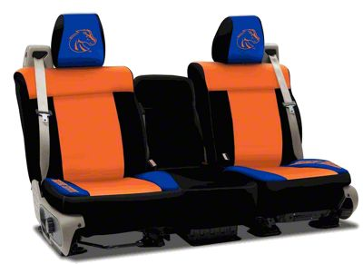 Coverking Boise State University Rear Seat Covers (07-18 Jeep Wrangler JK)