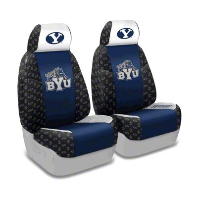 Coverking Brigham Young University Front Seat Covers (87-95 Jeep Wrangler YJ)