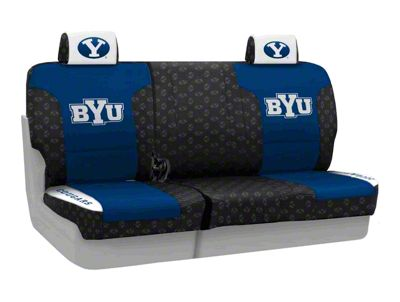 Coverking Brigham Young University Rear Seat Covers (07-18 Jeep Wrangler JK)