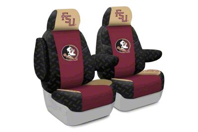 Coverking Florida State University Front Seat Covers (07-18 Jeep Wrangler JK)