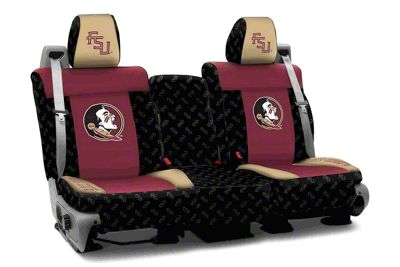 Coverking Florida State University Rear Seat Covers (07-18 Jeep Wrangler JK)