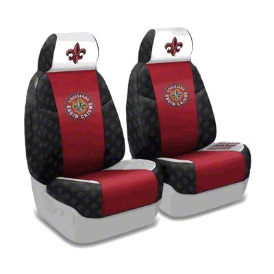 Coverking Louisiana at Lafayette University Front Seat Covers (87-95 Jeep Wrangler YJ)