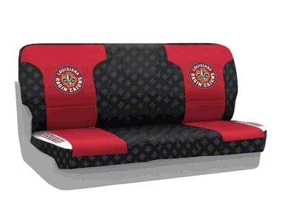 Coverking Louisiana at Lafayette University Rear Seat Covers (87-95 Jeep Wrangler YJ)