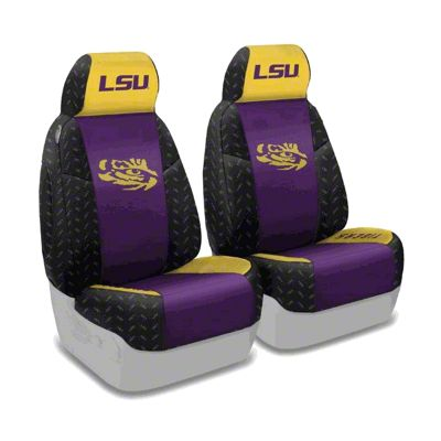 Coverking Louisiana State University Front Seat Covers (97-06 Jeep Wrangler TJ)