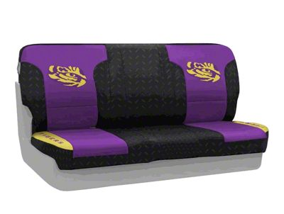 Coverking Louisiana State University Rear Seat Covers (97-06 Jeep Wrangler TJ)