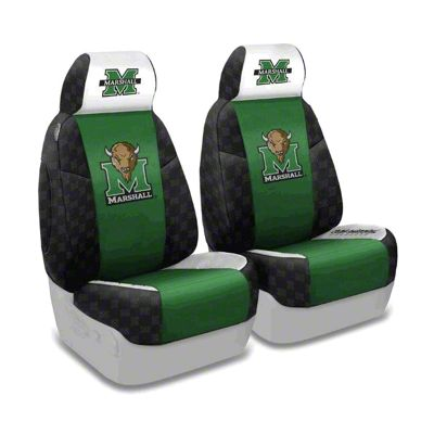 Coverking Marshall University Front Seat Covers (87-95 Jeep Wrangler YJ)