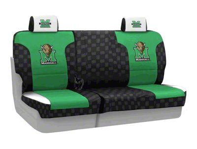 Coverking Marshall University Rear Seat Covers (07-18 Jeep Wrangler JK)