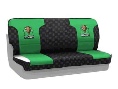 Coverking Marshall University Rear Seat Covers (97-06 Jeep Wrangler TJ)