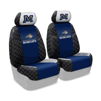 Coverking Montana State University Front Seat Covers (07-18 Jeep Wrangler JK)