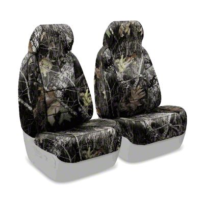 Coverking Mossy Oak Neosupreme Front Seat Covers - Break Up (87-95 Jeep Wrangler YJ)