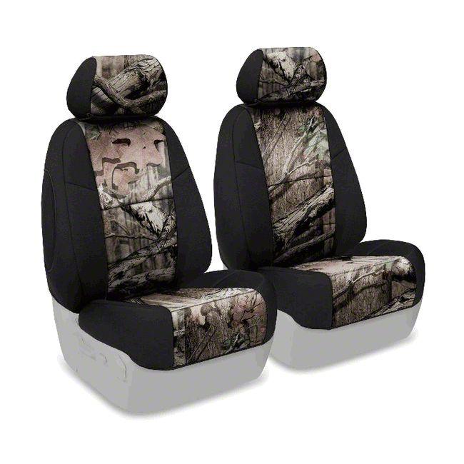 Coverking Mossy Oak Neosupreme Front Seat Covers - Break Up Infinity/Black (07-18 Jeep Wrangler JK)