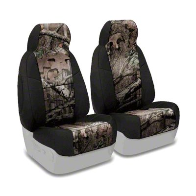 Coverking Mossy Oak Neosupreme Front Seat Covers - Break Up Infinity/Black (97-06 Jeep Wrangler TJ)