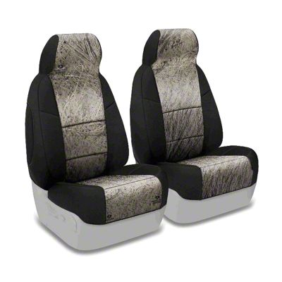 Coverking Mossy Oak Neosupreme Front Seat Covers - Brush/Black (87-95 Jeep Wrangler YJ)