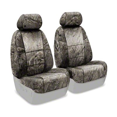Coverking Mossy Oak Neosupreme Front Seat Covers - Duck Blind (07-18 Jeep Wrangler JK)
