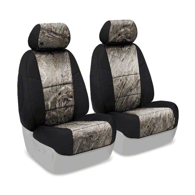 Coverking Mossy Oak Neosupreme Front Seat Covers - Duck Blind/Black (07-18 Jeep Wrangler JK)