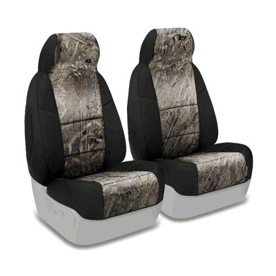 Coverking Mossy Oak Neosupreme Front Seat Covers - Duck Blind/Black (87-95 Jeep Wrangler YJ)
